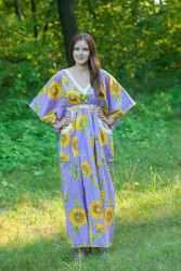 """Breezy Bohemian"" kaftan in Sunflower Sweet pattern"