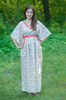 """Breezy Bohemian"" kaftan in Tiny Blossoms pattern"