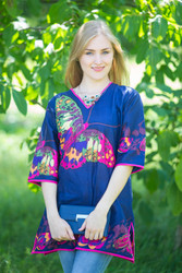 """Glam Tunics"" kaftan Top in Big Butterfly pattern"