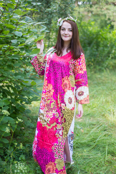 """The Unwind"" kaftan in Flowers in Shrubs pattern"