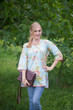 """Glam Tunics"" kaftan Top in Flower Rain pattern"