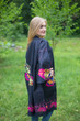 """Free Bird"" Kimono jacket in Big Butterfly pattern"