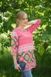 """Glam Tunics"" kaftan Top in Round and Round pattern"