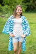 """Free Bird"" Kimono jacket in Chevron Dots pattern"