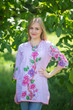 """Glam Tunics"" kaftan Top in Swirly Floral Vine pattern"