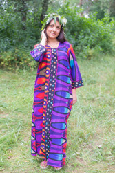 """The Unwind"" kaftan in Glowing Flame pattern"