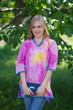 """Glam Tunics"" kaftan Top in Watercolor Splash pattern"
