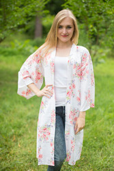"""Free Bird"" Kimono jacket in Faded Flowers pattern"