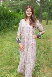 """The Unwind"" kaftan in Fun Leopard pattern"