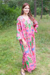 """The Unwind"" kaftan in Ikat Aztec pattern"