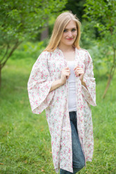 """Free Bird"" Kimono jacket in Tiny Blossoms pattern"