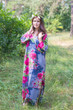 """The Unwind"" kaftan in Large Fuchsia Floral pattern"