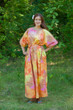 """Mademoiselle"" kaftan in Batik Watercolor pattern"