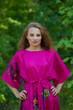 """Mademoiselle"" kaftan in Big Butterfly pattern"