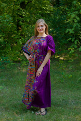 """Mademoiselle"" kaftan in Cheerful Paisleys pattern"