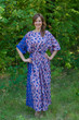 """Mademoiselle"" kaftan in Chevron Dots pattern"