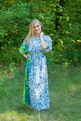 """Mademoiselle"" kaftan in Falling Leaves pattern"