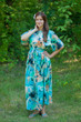 """Mademoiselle"" kaftan in Flamingo Watercolor pattern"