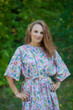 """Mademoiselle"" kaftan in Happy Flowers pattern"