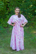 """Mademoiselle"" kaftan in Ombre Fading Leaves pattern"