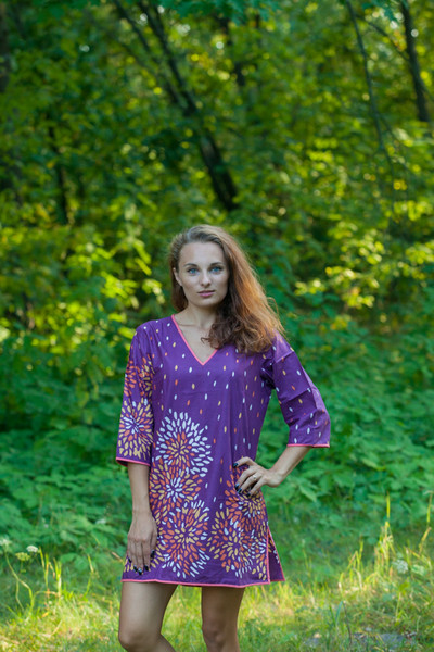"""Sun and Sand"" Beach Tunic in Abstract Floral pattern"