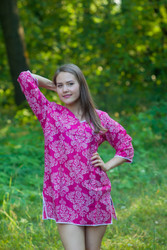 """Sun and Sand"" Beach Tunic in Damask pattern"