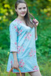 """Sun and Sand"" Beach Tunic in Faded Flowers pattern"