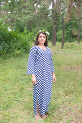 """The Unwind"" kaftan in Polka Dots pattern"