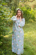 """The Unwind"" kaftan in Romantic Roses pattern"