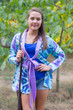 """Bow and Me"" Kimono jacket in Ikat Aztec pattern"