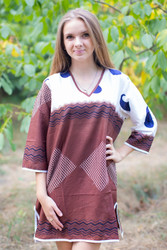 """Sun and Sand"" Beach Tunic in Perfectly Paisley pattern"