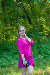 """""""Sun and Sand"""" Beach Tunic in Plain and Simple pattern"""