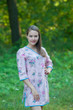 """Sun and Sand"" Beach Tunic in Romantic Florals pattern"