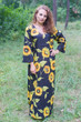 """The Unwind"" kaftan in Sunflower Sweet pattern"