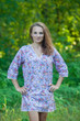 """Sun and Sand"" Beach Tunic in Vintage Chic Floral pattern"