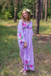 """The Unwind"" kaftan in Swirly Vine Floral pattern"