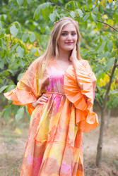 """Pretty Princess"" kaftan in Batik Watercolor pattern"