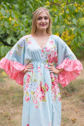 """Pretty Princess"" kaftan in Cabbage Roses pattern"