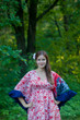 """Pretty Princess"" kaftan in Falling Leaves pattern"