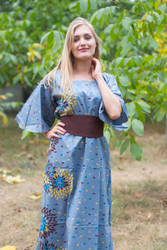 """""""Beauty, Belt and Beyond"""" kaftan in Abstract Floral pattern"""
