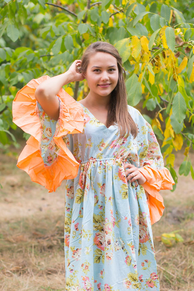 """Pretty Princess"" kaftan in  Flower Rain pattern"