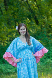 """Pretty Princess"" kaftan in Geometric Chevron pattern"