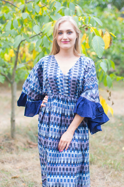 """Pretty Princess"" kaftan in Geometrica pattern"