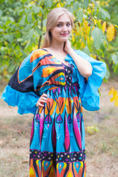 """Pretty Princess"" kaftan in Glowing Flame pattern"