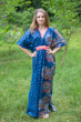 """Unfurl"" kaftan in Abstract Floral pattern"
