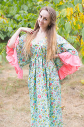 """Pretty Princess"" kaftan in Happy Flowers pattern"