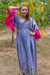 """Pretty Princess"" kaftan in Little Chirpies pattern"