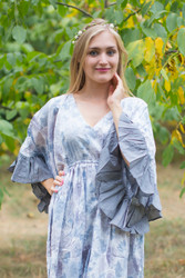 """Pretty Princess"" kaftan in Ombre Fading Leaves pattern"