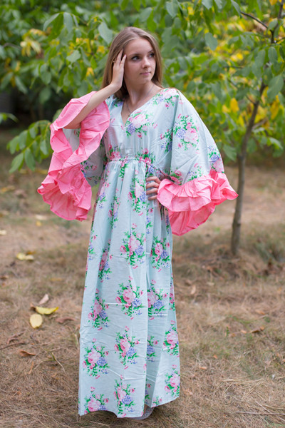 """Pretty Princess"" kaftan in Pink Peonies pattern"