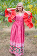 """Pretty Princess"" kaftan in Round and Round pattern"